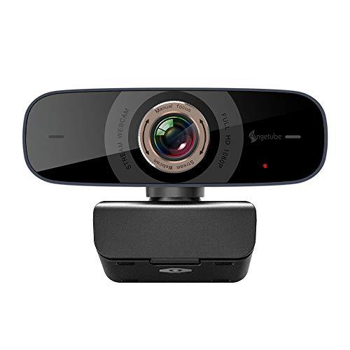 マイク付きPCウェブカメラ、ビデオ通話およびビデオ会議の録画用USB 1080p webカメラ/オンラインティーチング/ビジネスミーティング、Windowsと互換性ありWindowsの場合Android Android iOS Linux for Skype、Facebook、Youtube、Xbox one、GoReact
