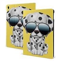 SORA かわいい 小犬 身 サングラス iPad Air4ケース2020 ipad Air 4カバーipad air4ガラスフィルム付け ペンホルダー付きPUレザー 2020秋発売のiPad Air4 (第四世代) 10.9インチ
