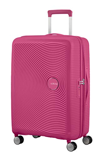 American Tourister Soundbox - Spinner M Expandable Suitcase, 67 cm, 71.5/81 Litre, Pink (Magenta)