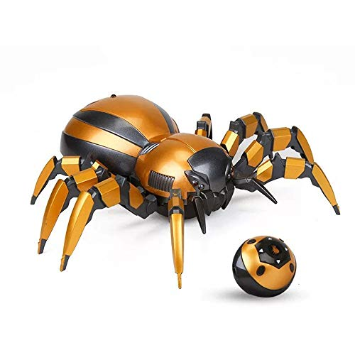 HLGQ Realistic Remote Control Spider Toy with Walking Functions, Electronic Mechanical Spider Model, Tricky Electric Animal Model for Boys Girls