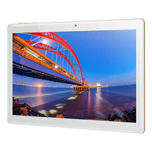 Padgene Android 10.0 Tablet 10 pollici, 5G WiFi Tablet 4G Phablet con Octa-Core 3 GB + 64 GB, display in vetro 1280 * 800, fotocamera posteriore da 8 MP, doppi altoparlanti, Bluetooth, GPS (oro)