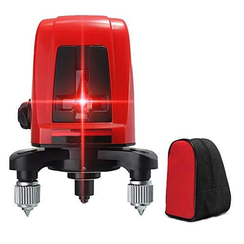 2ライン レッド レーザー墨出し器 2線1点 赤色 クロスラインレーザー 自動水平調整機能 高輝度