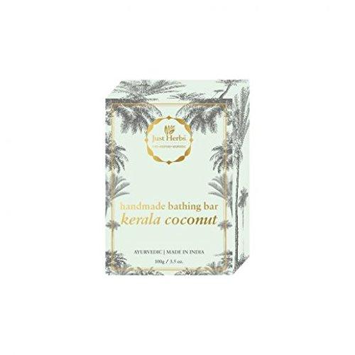 Just Herbs Kerala Coconut Ayurvedic Handmade Bathing Bar, Certified Natural, Chemical Free – 100 GM