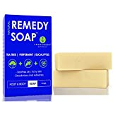 Remedy Natural Tea Tree Oil Soap Bar for Men/Women (Pack of 2) – w/Peppermint & Eucalyptus - Face...