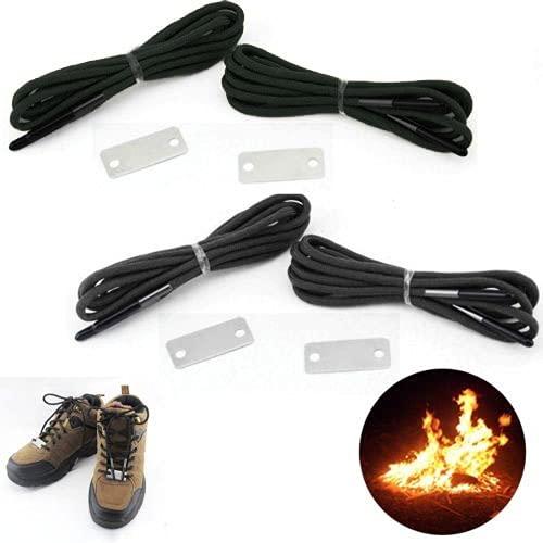 SOONHUA Wilderness Survival-Notfall-Schnürsenkel, Feuerstarter, Schaber, 550 Paracord-Schnürsenkel