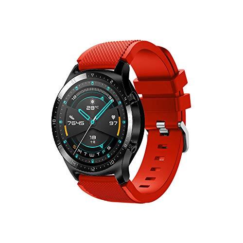 Preisvergleich Produktbild Fesjoy 22mm Silikon Armband Armband Armband Ersatz mit Schnallenstreifen Oberfläche Kompatibel mit Huawei Watch GT 2 46mm / Honor MagicWatch 2 46mm