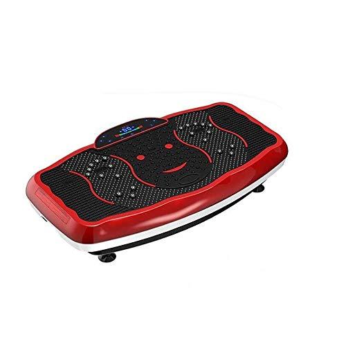 Vibrationsplatte Slim und rutschfest Vibrationsplatte Übungsmaschine mit Fernbedienung, Trainingsmaschine Fitness-Plattform Haus Fitness & Gewichtsverlust (Color : Rosso)