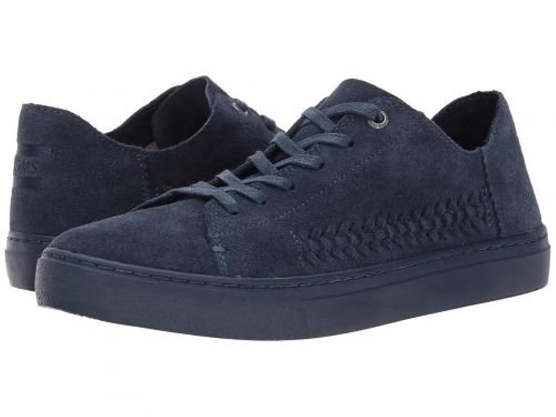 同行するスペイン春TOMS(トムス) レディース 女性用 シューズ 靴 スニーカー 運動靴 Lenox Sneaker - Navy Monochrome Deconstructed Suede/Woven Panel [並行輸入品]
