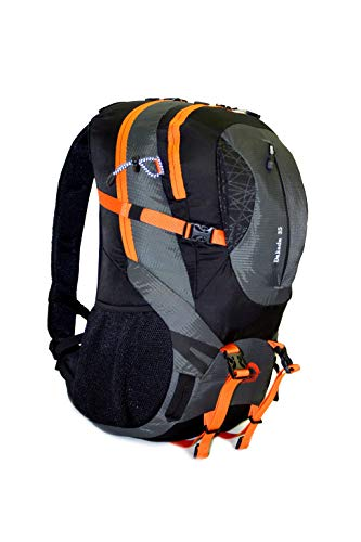 MONTIS DAKADA 35, Unisex Trekking-Rucksack, Wander-Rucksack & Reise-Rucksack in einem, ermöglicht dank Regenschutz auch Bike- & Campingtouren, im Militär-Rucksack Look mit viel Extras & Belüftungssystem