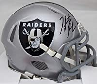 Hunter Renfrow Autographed Las Vegas Raiders Speed Mini Helmet Beckett BAS