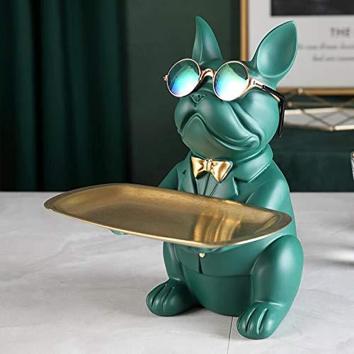 HYXGY Cool Bulldog, Statua, Decorazione della tavola, Scultura di Moda, Arredamento per la casa, Multifunzione, Portaoggetti da scrivania, Statuetta in Miniatura, Salvadanaio
