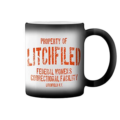 Litchfield Prison Inspired Orange Is The New Black Taza de caf negro mgico Mug