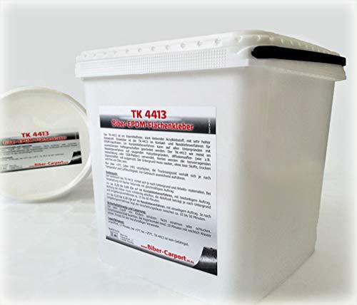 5 Liter, TK-4413 EPDM-Kleber für Dachfolie, Flächenkleber Wasserbasis Dach Folie Wasser