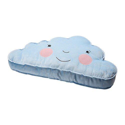 Preisvergleich Produktbild IKEA FJÄDERMOLN Kissen in hellblau; Wolkenform; (59x34cm)