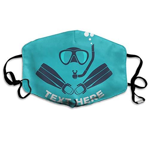 Scuba Diving Icon Set decoratief mondmasker voor mannen en vrouwen stofdicht outdoor gezichtsmasker voor volwassenen en tieners