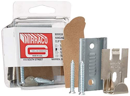 CRL Nickel Plated Adjustable Mirraco Mirror Clip Set for 3/8' Seamed Mirror by CR Laurence