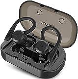 HolyHigh Bluetooth Kopfhörer in Ear Bluetooth Headset Stereo-Minikopfhörer Sport Wasserdicht mit Ladekästchen und Integriertem Mikrofon für iOS Android Huawei HTC((Silver)
