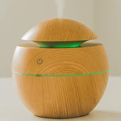 Difusor de Aromas Elétrico Ultrassônico 7 Cores Aromaterapia (Madeira Clara)