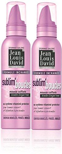 JEAN-LOUIS DAVID - Mousse Coiffante Sublime Boucles Au Système Vitaminé Protecteur - 200 ml - Lot de 2
