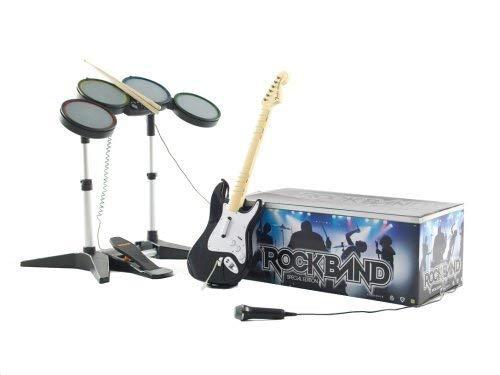 Xbox 360 Rockband Bundle (Game, Microphone, Drumset, Guitar)