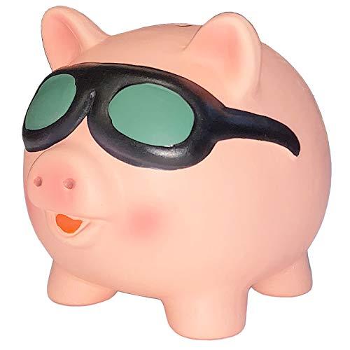 Hucha de Cerdito con Gafas de Sol