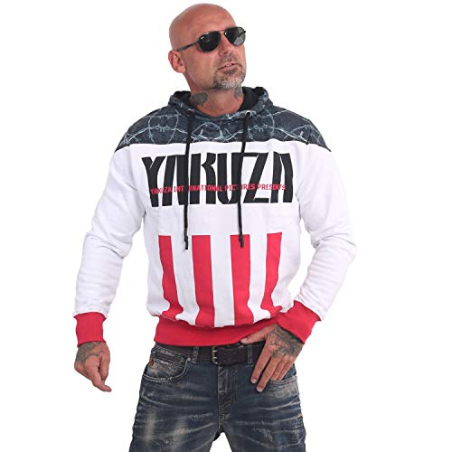 Yakuza Herren Barbwire Hoodie Kapuzenpullover