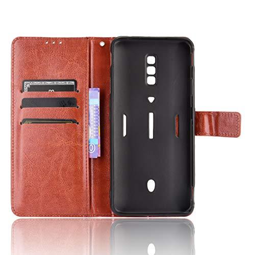 MingMing Lederhülle für ZTE Nubia Red Magic 6 Pro Hülle, Tasche Cover Etui Handyhülle für ZTE Nubia Red Magic 6 Pro, Brown