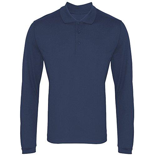 Premier - Polo à Manches Longues - Homme (2XL) (Bleu Marine)