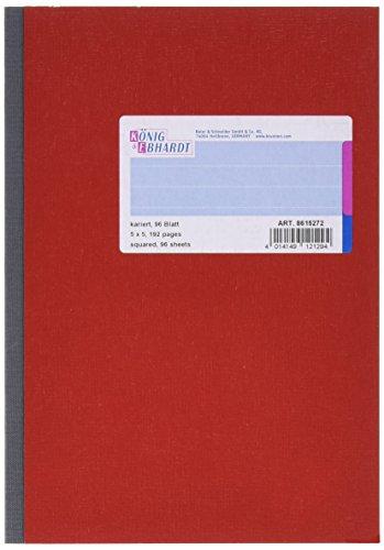 König & Ebhardt 8615272 Kladde / Notizheft (A5, 96 Blatt, kariert, 70g/m²)