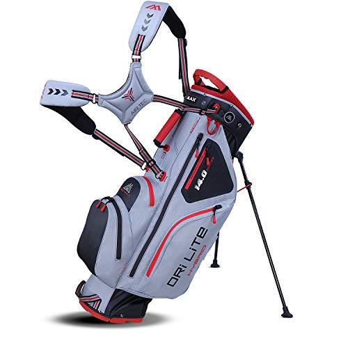 Big Max Dri Lite HYBRID Golf Cartbag & Standbag - Wasserabweisend - 2019 - Silver/Black/Red