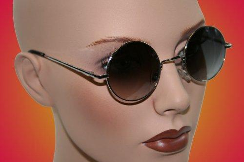 John Lennon Sonnenbrille Nickelbrille Ozzy Osbourne Brille Gothic 814 silber