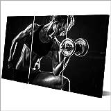 HD Leinwandmalerei Modulare Wohnkultur Bilder Wohnzimmer Wandkunst 3 Panel Sexy Girl Hanteln Fitness...