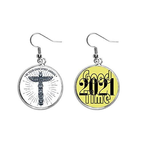 Ancient Egypt Owl Decorative Pattern Earrings Ear Pendants Jewelry 2021 Good Luck
