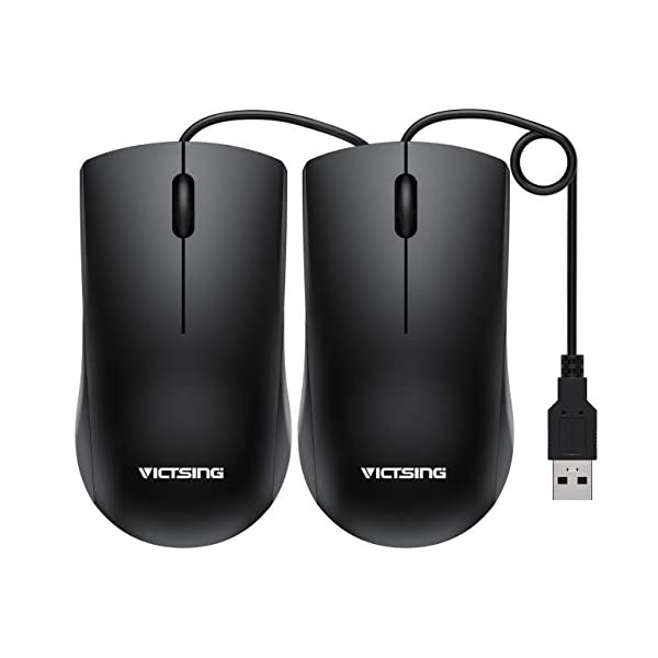 VicTsing Wired Mouse, Simple USB Mouse Optical Mouse for Computer Laptop, PC, Desktop,...