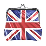 Cartera La Bandera británica Reino Unido Monedero Azul Bolsas Monedero de Cuero Titular de la Tarjeta Cartera Cartera