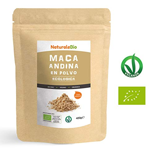 Maca Andina Ecológica en Polvo [ Gelatinizada ] 400g. Organic Maca Powder Gelatinized. 100{41c4b186ebdb2c24a21b3e040303fe7de9d83a41f78b11de134e953a2b0ded31} Peruana, Bio y Pura, viene de raíz de Maca Organica. NaturaleBio