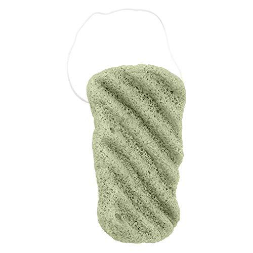 Konjac éponge de lavage visage (vert ondulé)