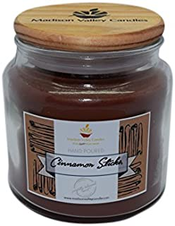 Madison Valley Soy Candle Company Strong Scented Cinnamon Stick Soy Candle 16oz