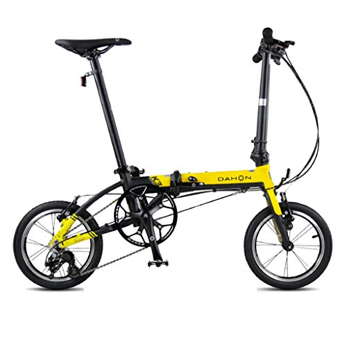 Great Deal! Folding Bikes Bicycle Folding Bicycle Unisex 14 Inch Small Wheel Bicycle Portable 3 Spee...