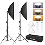 Best Continuous Lighting Kits - Neewer 2-Pack Softbox Lighting Kit, 23x23inch/60x60cm Soft Box Review