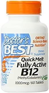 Doctor's Best Quick Melt Fully Active B12 Supplement, 1000 mcg, 60 Count by Doctor's Best