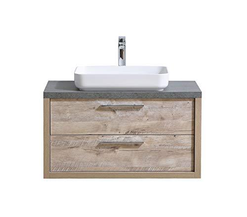 Badezimmer Badmöbel Indiana 90 cm Nature Wood - Unterschrank Schrank Waschbecken