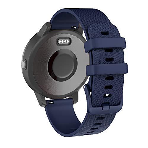 Isabake Cinturino per Garmin Forerunner 245 645 Vivoactive 3 / Vivoactive 3 Music/Vivomove/Vivomove HR Music - Cinturino in Silicone Morbido a sgancio rapido 20mm per Orologio Garmin - Blu