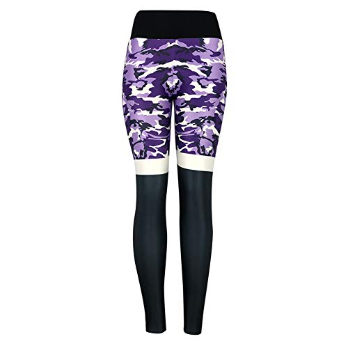 GDRFHJZ Fashion Yoga Broek Dames Mode Camouflage Hoge Taille Geplooide Sport Gym Yoga Sportbroek