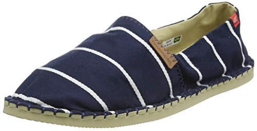 Havaianas Origine Stripes, Espadrille Wedge Sandal Unisex-Adulto, Navy Blue, 42