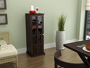 Atlantic Wood Bar Wine Rack Liquor Cabinet