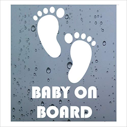 HastingsDesigner BABY FEET LITTLE PRINCESS ON BOARD Funny Car,Bumper,Window Vinyl Decal Sticker White