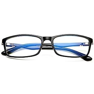 [FREESE] 超軽量16g 伊達メガネ ブルーライトカット PCメガネ 形状記憶フレーム UVカット スクエア メンズ 【福岡発のアイウェアブランド FREESE】 (Black)