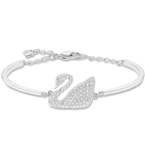 Swarovski Brazalete Swan, de Mujer, de Mujer, Blanco, Baño de Rodio
