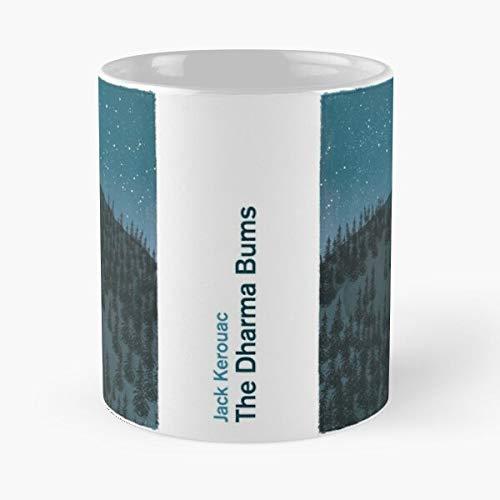 The Dharma Bums Jack Kerouac - Taza de cerámica de mármol blanco